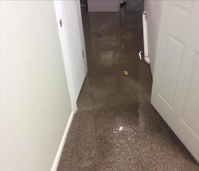 A basement after a Storm event where the water was approximately 3 inches high in the entire basement